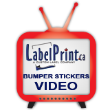 click here for custom bumper sticker printing video