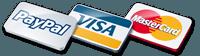 We accept Paypal, Visa and Mastercard