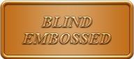 blind embossed bronze foil